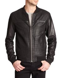 Mackage Perforated Leather Jacket - Lyst