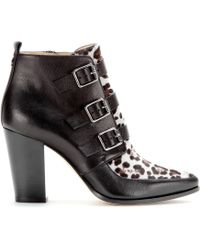 Jimmy Choo Hutch Calf Hair And Leather Ankle Boots - Lyst