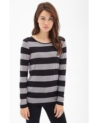 Forever 21 Cut Out Back Striped Sweater - Lyst