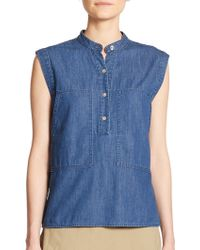 Marc By Marc Jacobs Chambray Top blue - Lyst