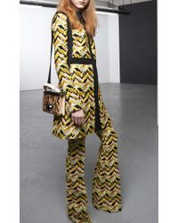 Giambattista Valli Embroidered Chevron Coat - Lyst