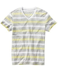 Gap Essential Striped Vneck Tshirt - Lyst