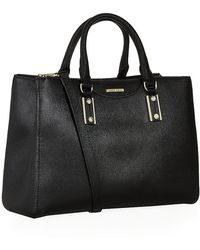 Boss Black Woman Mila Leather Tote - Lyst
