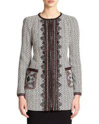 Nanette Lepore Embellished Zip-Front Jacket - Lyst