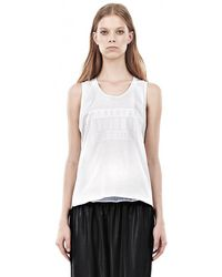 Alexander Wang Muscle Tank with Bonded Parental Advisory Logo - Lyst