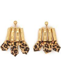Ela Stone - Leopard Print Chain Earrings - Lyst