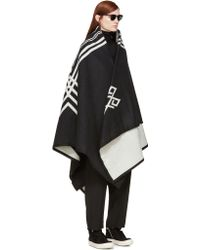 Marcelo Burlon - Black And Ivory Pendleton Blanket Scarf - Lyst