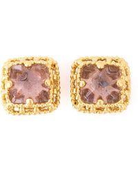Yves Saint Laurent Vintage Pyramid Glass Earrings - Lyst