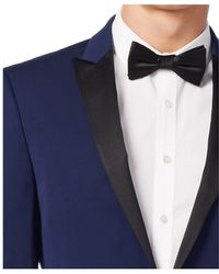 Calvin Klein | Blue With Black Peak Lapel Extra Slim-fit Tuxedo | Lyst