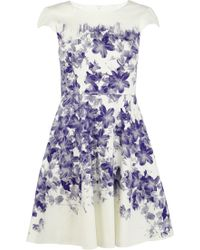 Karen Millen Floral Cotton Dress - Lyst