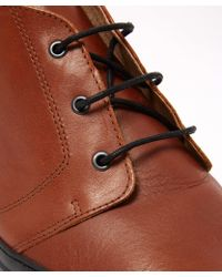 Oliver Spencer - Tan Beat Leather Chukka Boots - Lyst