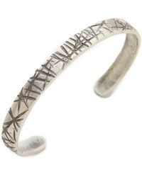 Cause and Effect - Narrow Sterling Flat Cuff - Lyst