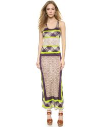 Jean Paul Gaultier Sleeveless Maxi Dress - Torrone - Lyst