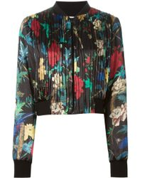 Alice + Olivia Floral And Bird Print Jacket - Lyst