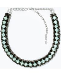 Zara Tube Woven Necklace - Lyst