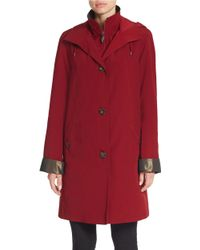 Gallery - Hooded Trench Coat - Lyst