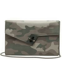 Ela - Soulmate Clutch With Chain - Camo - Lyst