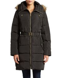 Michael Kors Belted Puffer Coat - Lyst
