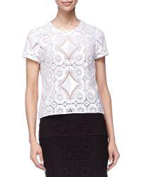 Burberry Prorsum - Short Sleeve Lace Shirt - Lyst