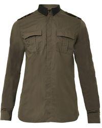 Balmain Satincollar Military Shirt - Lyst
