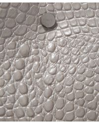 Vince - Medium Grey Croc-embossed Leather Tote Bag - Lyst