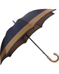 Barneys New York Blue Striped Umbrella - Lyst