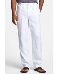 Tommy Bahama 'New Linen On The Beach' Easy Fit Pants white - Lyst