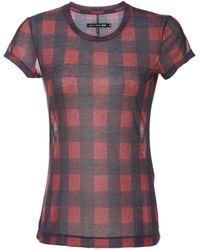 Rag & Bone Short Sleeve Cotton Buffalo Plaid Tshirt - Lyst