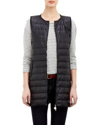 Moncler Channel-Quilted Down Merc Vest - Lyst