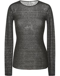 No 21 Marion Charcoal Round Neck Knit - Lyst