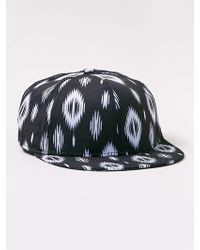 LAC - Bk And White Tribal Printed Snapback - Lyst