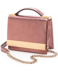 B Brian Atwood Ava Cross Body Bag Blush - Lyst