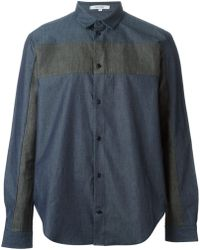 Carven Stripe Panel Shirt - Lyst