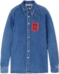 Raf Simons Denim Shirt blue - Lyst