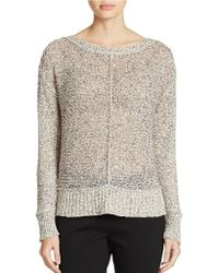 Eileen Fisher Petite Almost-Sheer Cotton Sweater - Lyst