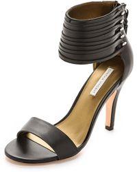 Twelfth Street Cynthia Vincent - Callie Ankle Cuff Sandals Black - Lyst