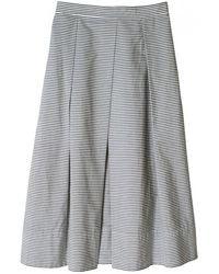 Tibi Striped Pleated Midi Skirt - Lyst