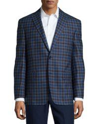 Ike Behar Wool Plaid Sport Coat - Lyst
