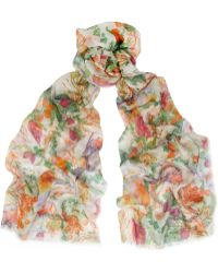 Matthew Williamson - Rainbow Morris Printed Modal And Cashmere-Blend Scarf - Lyst