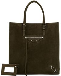 Balenciaga Papier A5 Suede Zip-around Tote Bag - Lyst