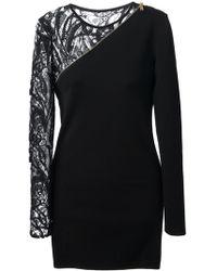 Emilio Pucci Black Asymmetrical Dress - Lyst