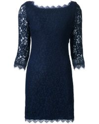 Diane von Furstenberg Scalloped-Hem Lace Dress - Lyst