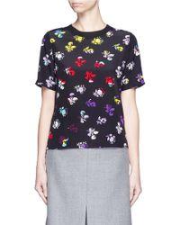 Diane von Furstenberg | 'dayle' Daisy Print Silk T-shirt | Lyst