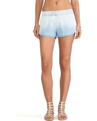 Rails Dani Denim Track Short - Lyst