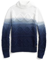 Tommy Hilfiger Dip-Dyed Cable Knit Sweater - Lyst