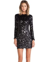 Dress The Population Black Ryan Dress - Lyst