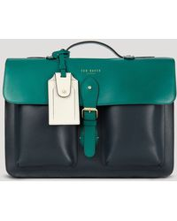 Ted Baker Harlemm Mixed Leather Satchel - Lyst