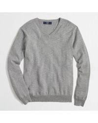 J.Crew Factory Slub Cotton Vneck Sweater - Lyst