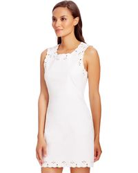 Diane von Furstenberg Dvf Caralyn Cut Out A-Line Dress white - Lyst