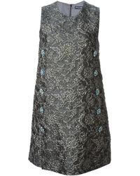Dolce & Gabbana Jacquard Cloqué Dress - Lyst